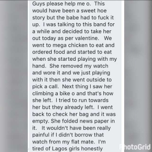 See how a Lagos girl ruined a poor young boy
